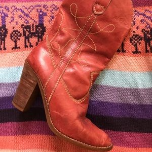 Vintage IMPO Heeled Western COWBOY BOOTS 7 1/2 B